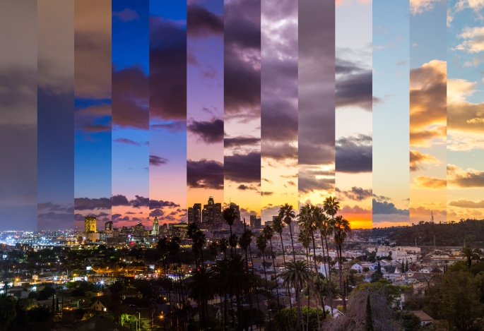 Los Angeles From Day to Night (Slices of Time)