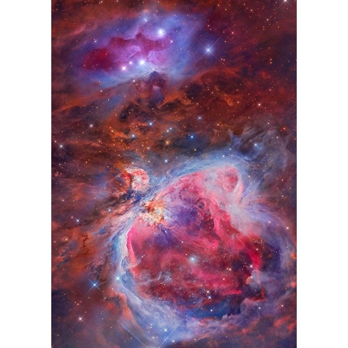 Miguel Angel García Borrella et Lluis Romero Ventura - Mosaic of the Great Orion & Running Man Nebula
